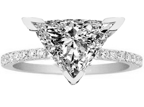 Trillion Engagement Rings From Mdc Diamonds Nyc