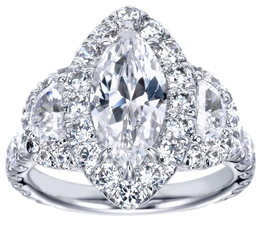 engagement ring marquise diamond halo engagement ring. Black Bedroom Furniture Sets. Home Design Ideas