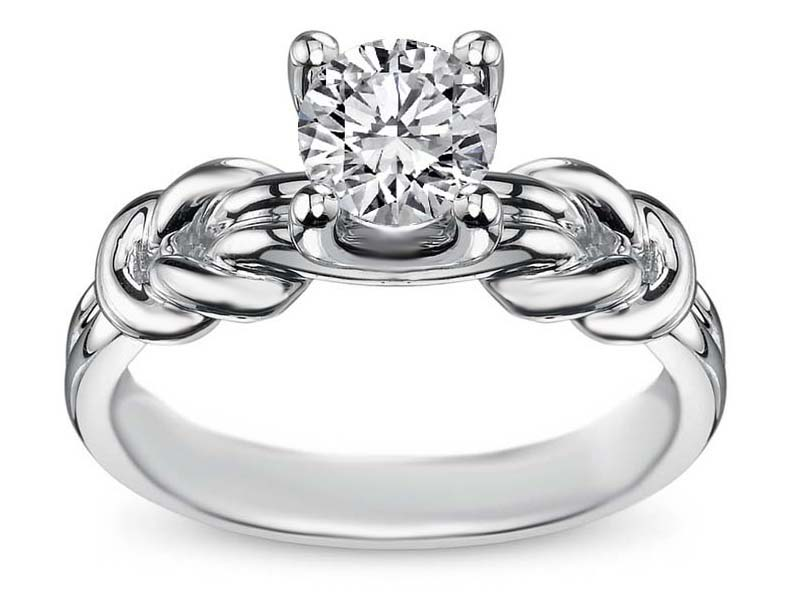 Engagement Ring Double Love Knot Solitaire Engagement Ring Es1329