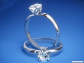 ES783 Tulip Round Diamond Solitaire Engagement Ring