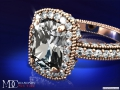 ES198CURG Cushion Diamond Engagement ring Rose Gold