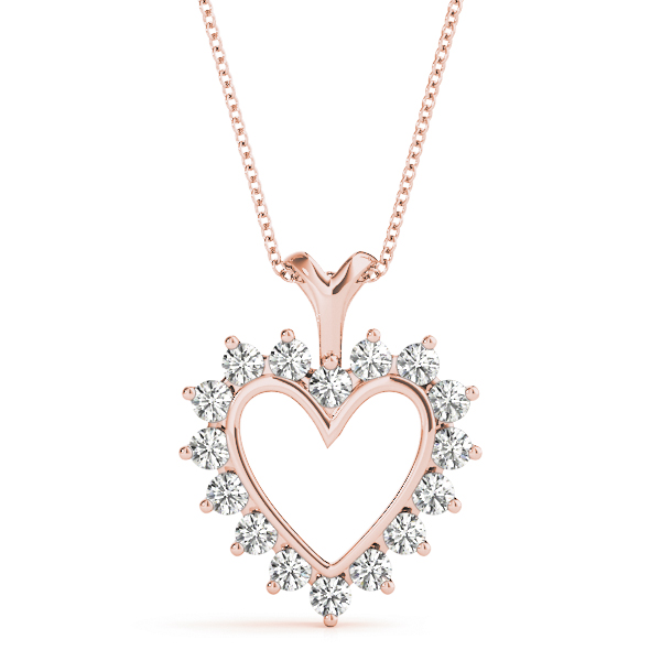 Heart Diamond Pendant Rose Gold