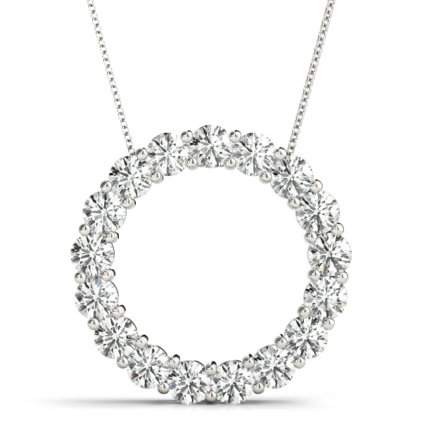 Circle of Love Round Diamond Pendant 2 Carat