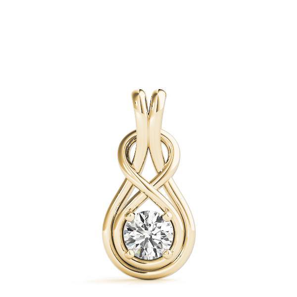 Love Knot Pendant Yellow Gold 0.5ct