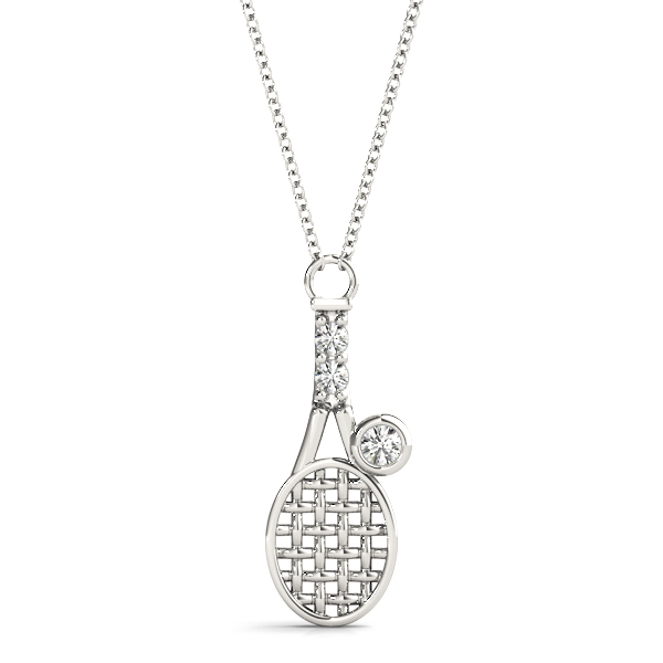 Tennis Racket Diamond Pendant