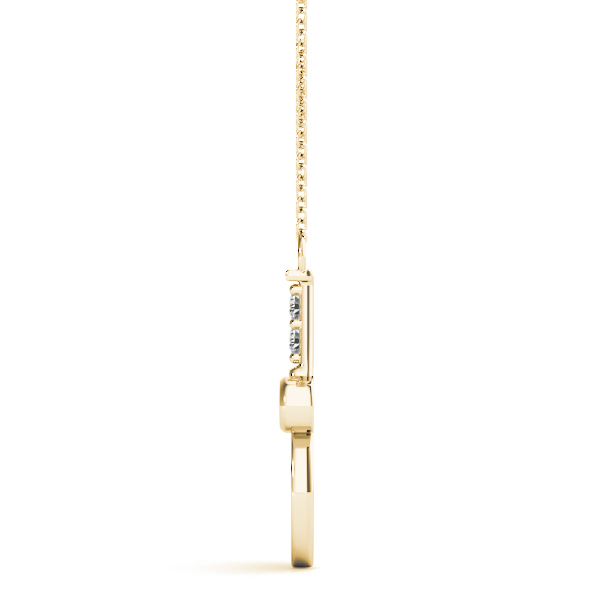 Racquet Ball Diamond Pendant Yellow Gold