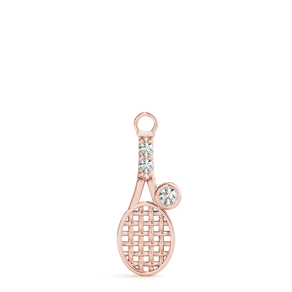 Racketball Diamond Pendant Rose Gold