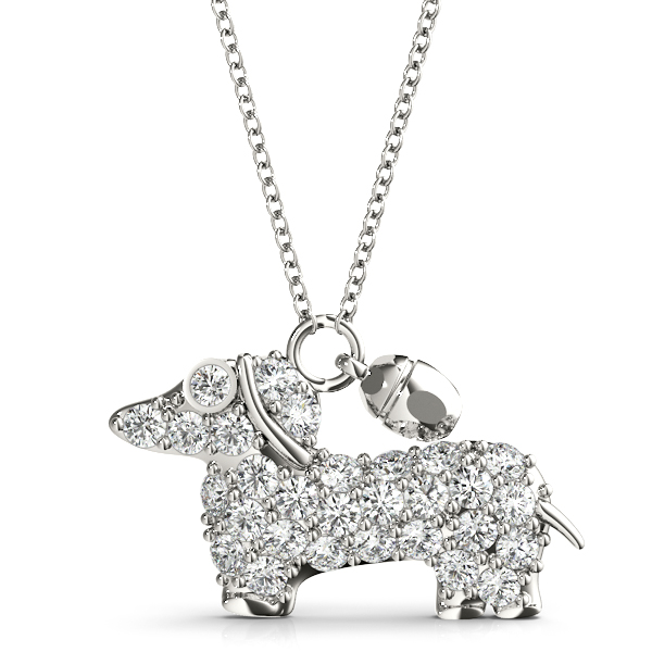 Puppy Dog Diamond Pendant