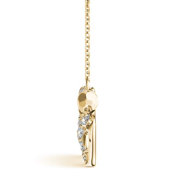 Puppy Diamond Pendant Yellow Gold