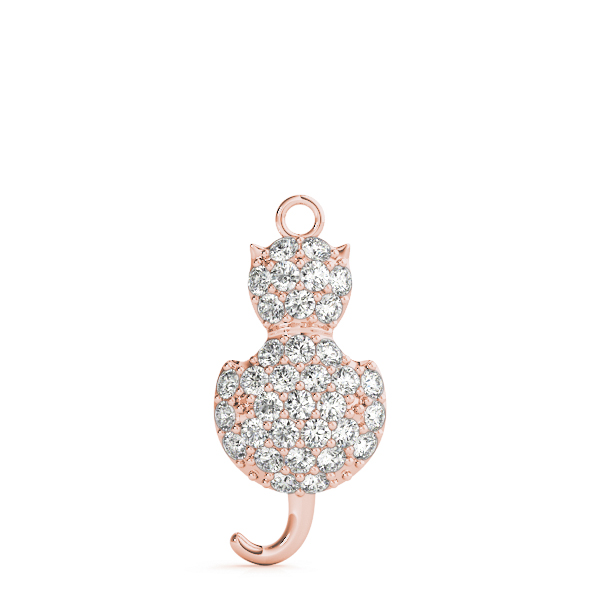Pussycat Diamond Pendant Rose Gold