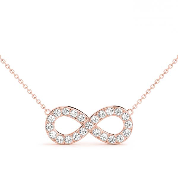 Infinity Pave Diamond Pendant Rose Gold