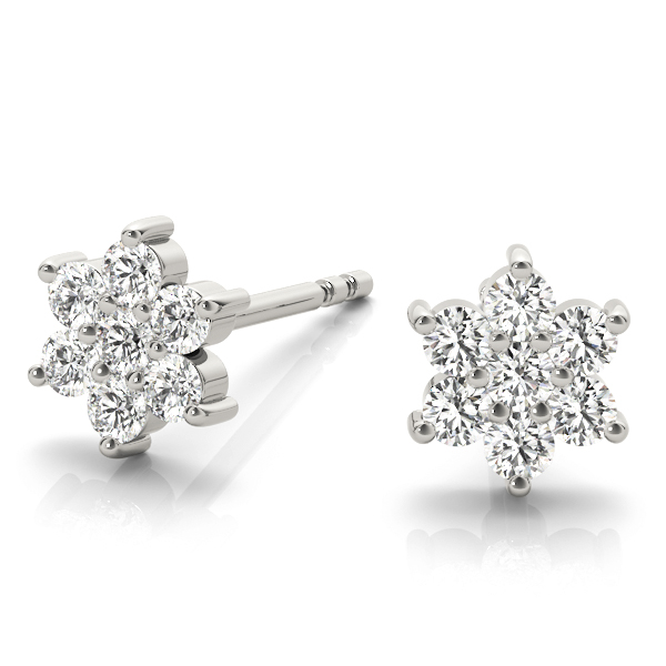 Star of David Diamond Earrings