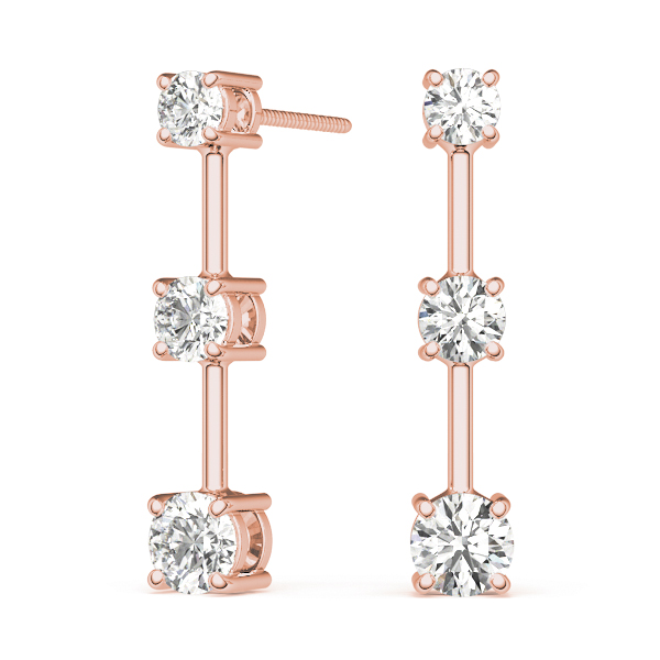 Three Stone Diamond Journey Rose Gold