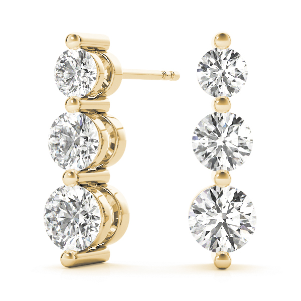 3 Stone Diamond Journey Yellow Gold