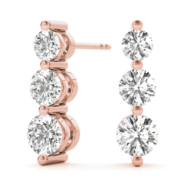 3 Stone Diamond Journey Rose Gold