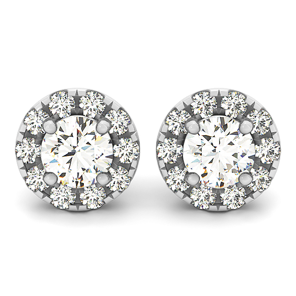 Halo Diamond Earrings 0 28 Ct