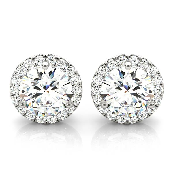 Diamond Halo Earring 0.62 ct.