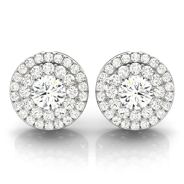 Double Halo Diamond Earring 1 3 Ct