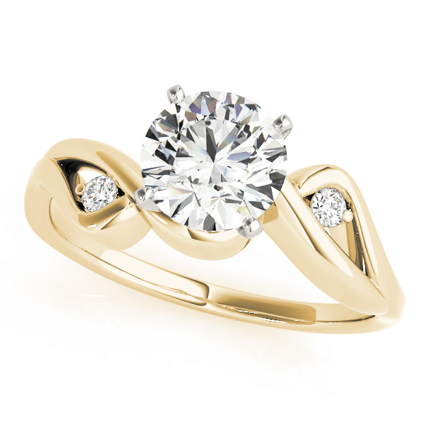 Love Bird Diamond Engagement Ring Yellow Gold