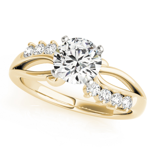 Swirl Infinity Diamond Engagement Ring Yellow Gold