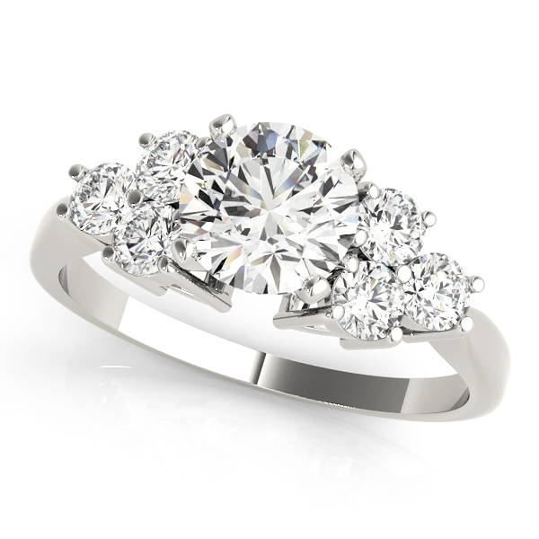 Trio Cluster Engagement Ring for Large Diamonds