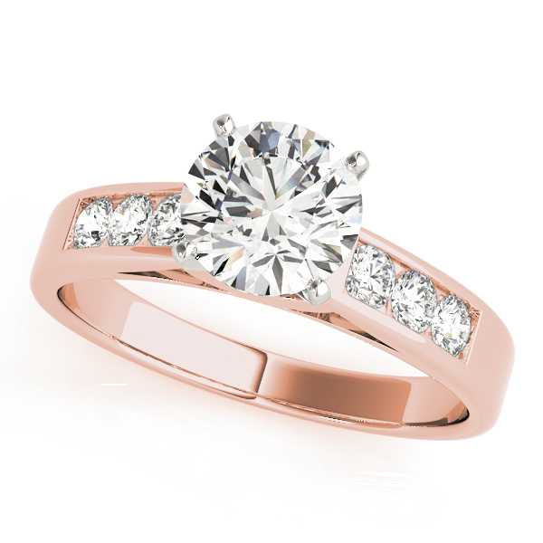 Classic Channel Set Bridal Set in Rose  Gold