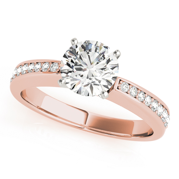 Classic Tapered Diamond Bridal Set in Rose Gold