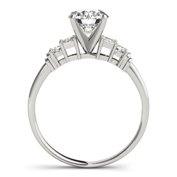 Classic Round & Baguette Cut Diamond Engagement Ring