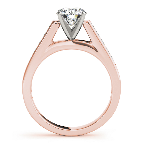 Classic Channel Set Princess Cut Diamond Bridal-Set in Rose Gold