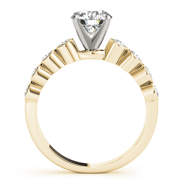 Bezel Set Diamond Engagement Ring in Yellow Gold
