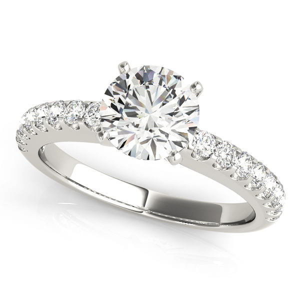 Classic Platinum Diamond Engagement Ring