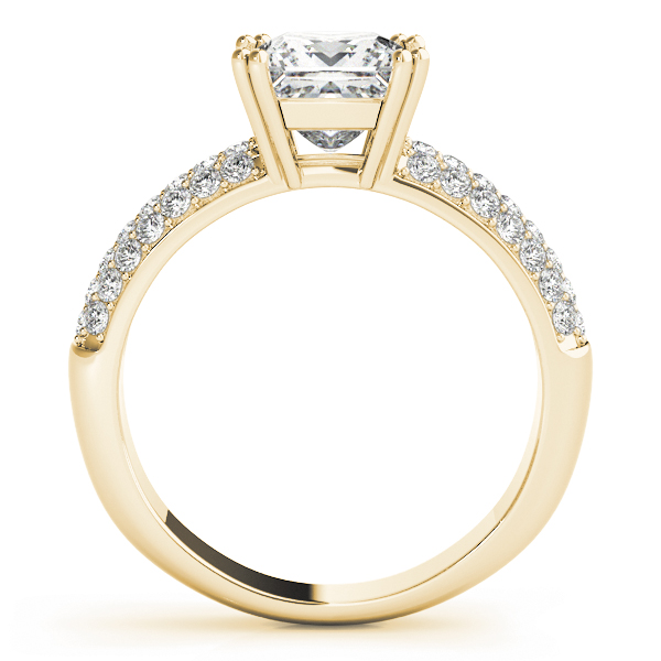 Etoile Pave Diamond Engagement Ring in Yellow Gold