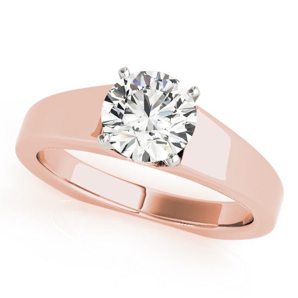 Solitaire Diamond Tapered Bridal Set in Rose Gold