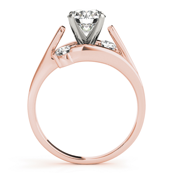3 Diamond Bypass Swirl Bridal Set Rose Gold