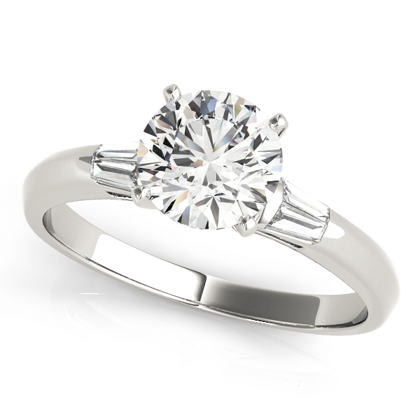 Classic Baguette Cut Diamond Engagement Ring