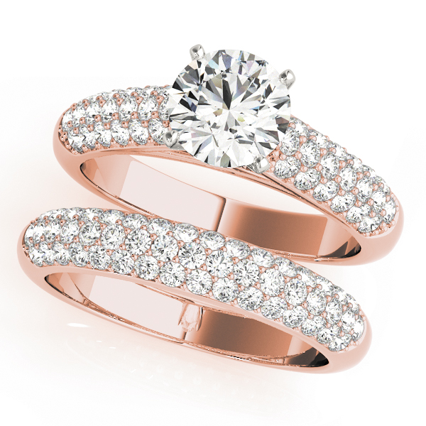 Etoil Cathedral Diamond Bridal Set in Rose Gold