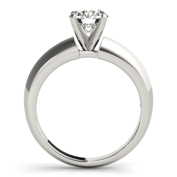 Classic Knife Edge Solitaire Engagement Ring