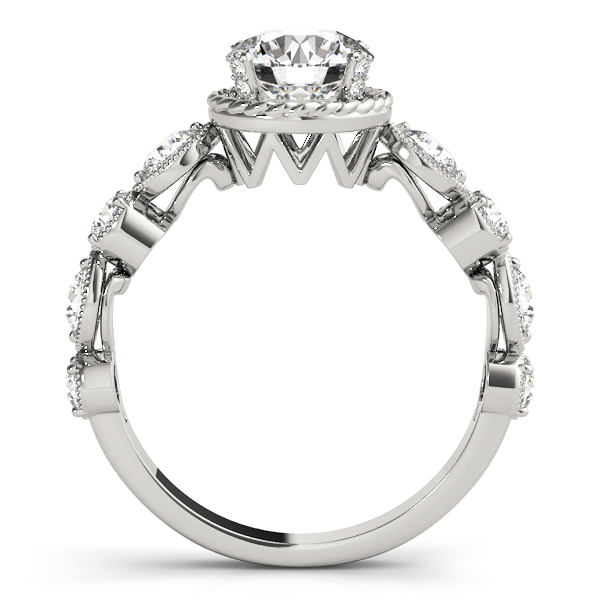 Swing Engagement Ring with Rope Halo