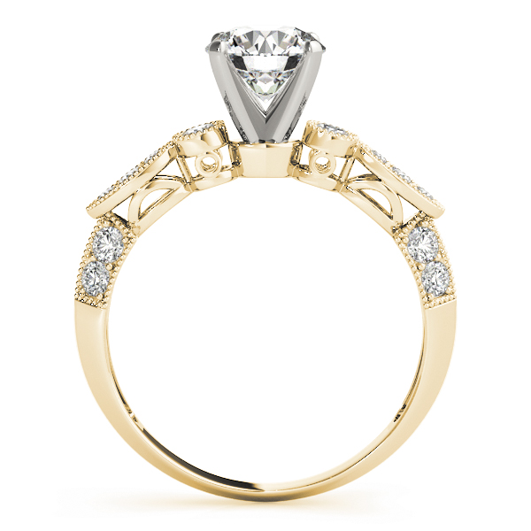 Vintage Diamond Engagement Ring in Yellow Gold
