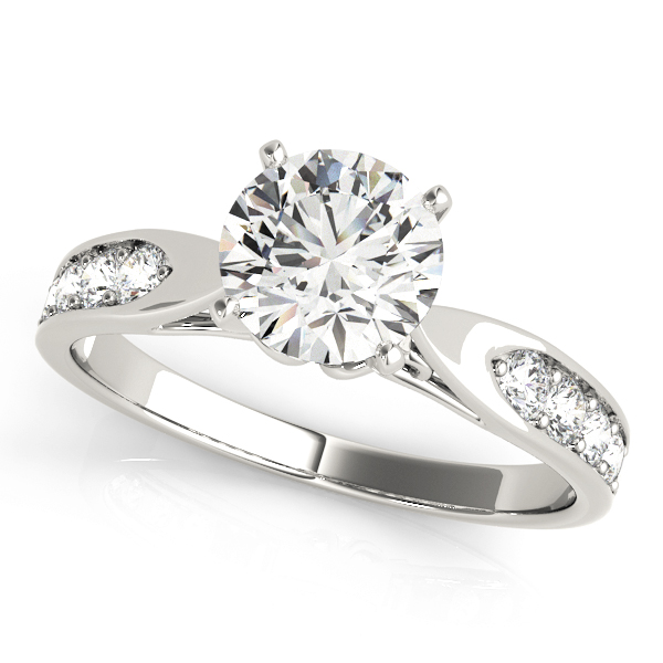Classic Tapered Cathedral Diamond Engagement Ring