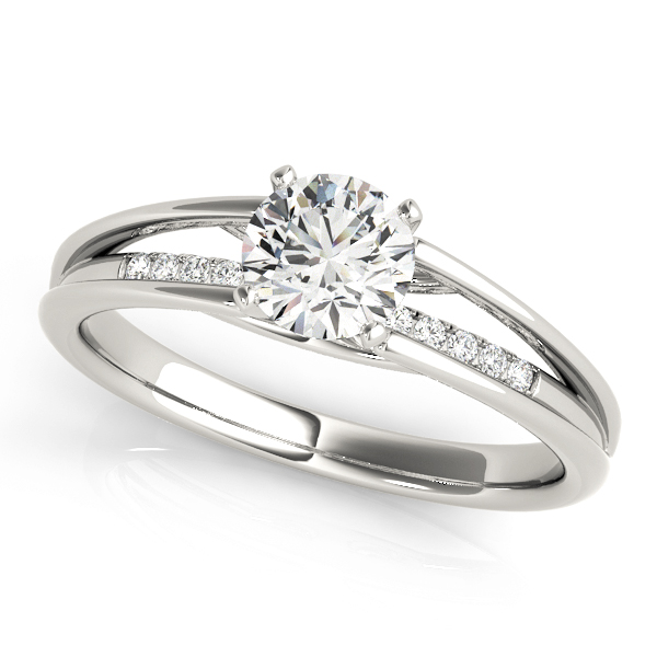 Petite Diamond Split Band Engagement Ring