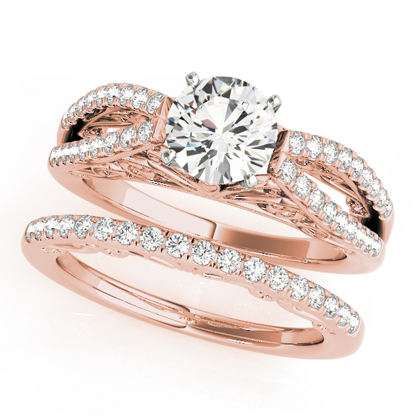 Split Diamond Filigree Bridal Set