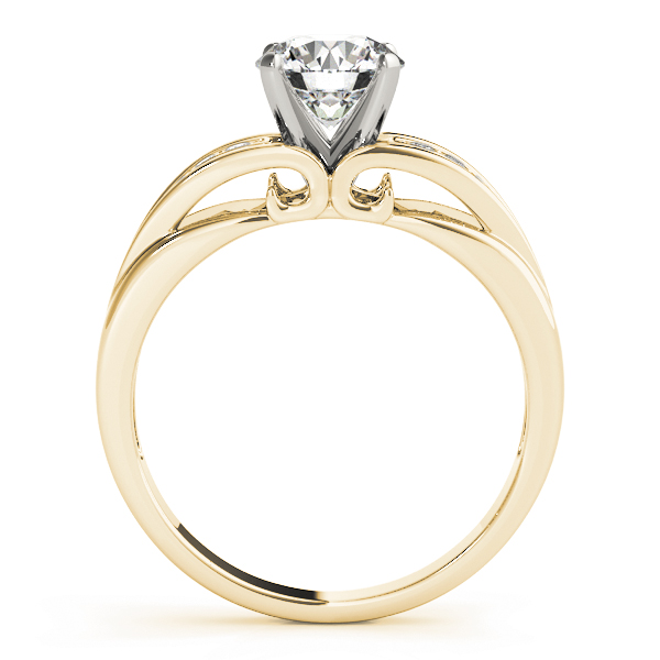 Diamond Pave Engagement Ring in Yellow Gold