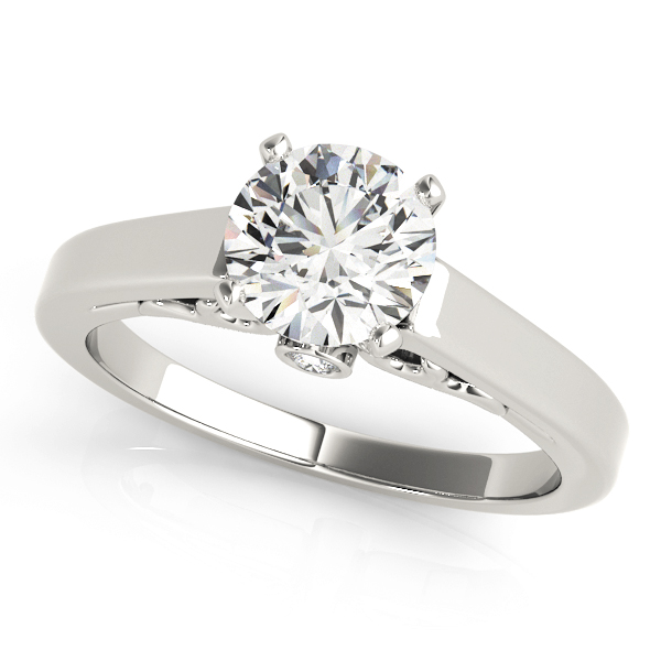 Classic Cathedral Solitaire Engagement Ring with Filigree