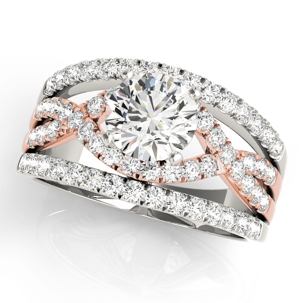 Intertwined Triple Band Engagement Ring in Rose Gold