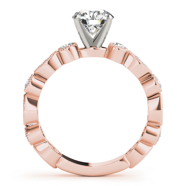 Petite Diamond Swing Bridal Set in Rose Gold