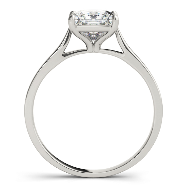 Classic Cathedral Solitaire Princess Engagement Ring