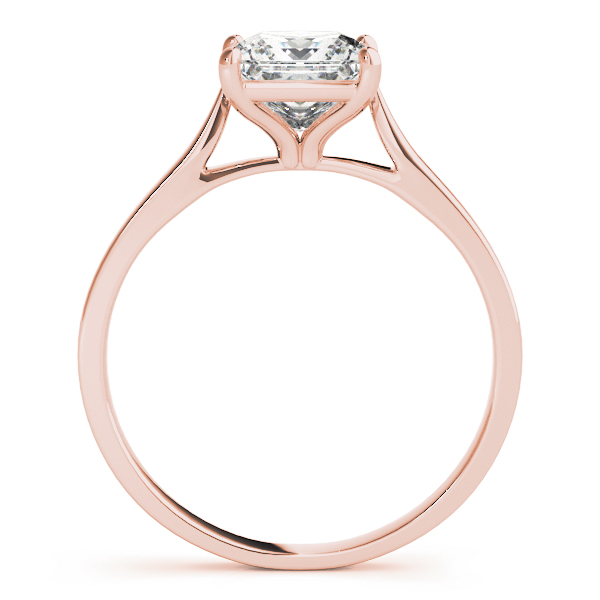 Classic Cathedral Solitaire Princess Rose Gold Bridal Set
