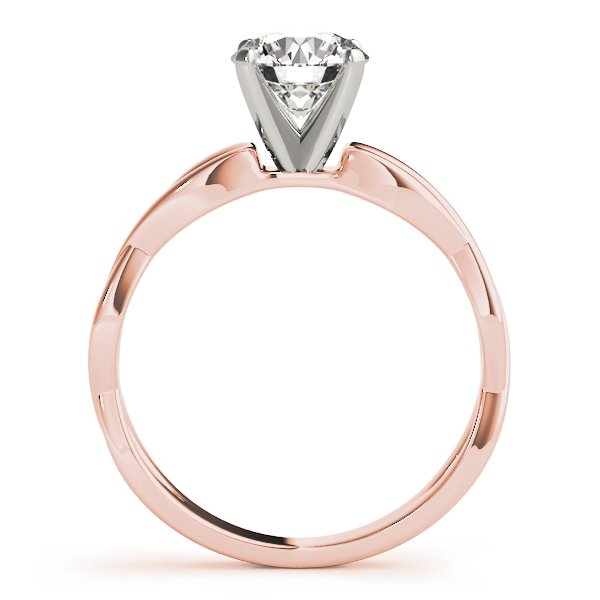 Infinity Solitaire Engagement Ring in Rose Gold