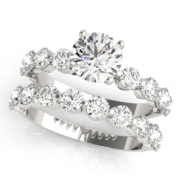 Mutual Prong Platinum Diamond Bridal Set